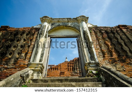 Ancient City,Ayutthaya in Thailand