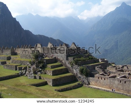 Ancient city Machupicchu, Peru (1) - stock photo