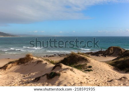 Ancient city of Cadiz (cadix) on the Spanish Atlantic coast in Andalusia - stock photo