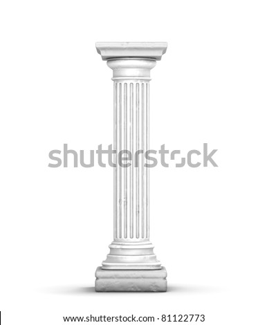 Ancient Column (with little cracks) - stock photo