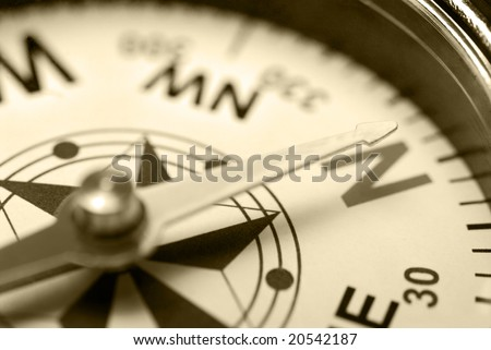 Ancient compass - stock photo