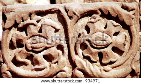 Ancient decoration - stock photo
