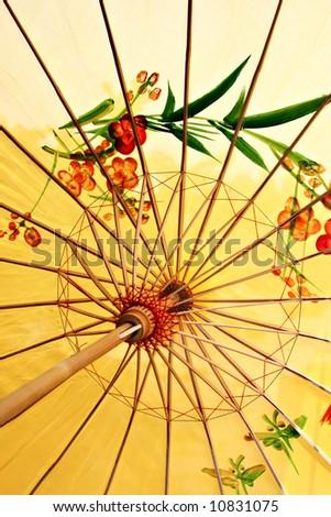 Ancient decorative Chinese style umbrella - stock photo