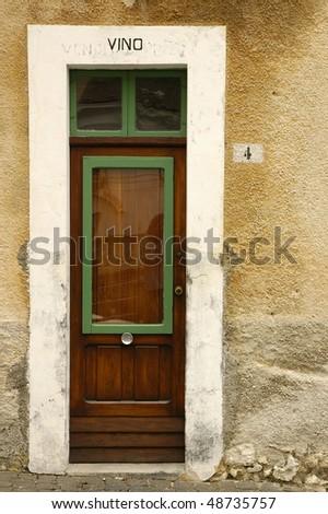 Ancient door - stock photo
