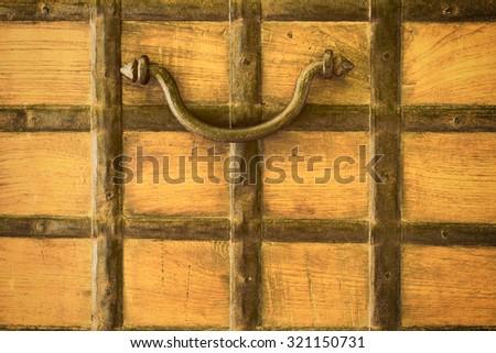 Ancient door handle - stock photo