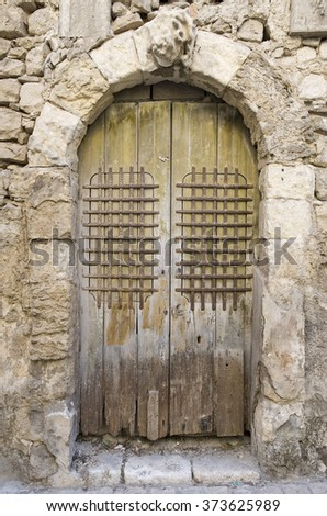 ancient door in Sicily, Italy, Europe