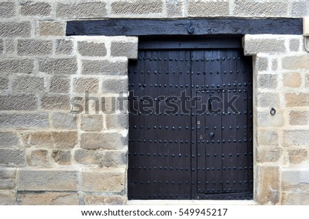 ancient door with nails and lintel & Ancient Door Nails Lintel Stock Photo 549945217 - Shutterstock
