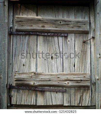 ancient doors - stock photo
