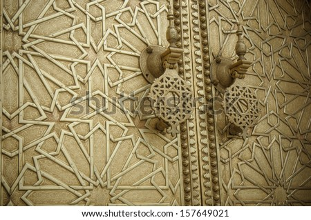 Ancient doors, Morocco - stock photo