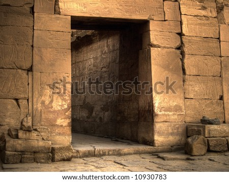 Ancient Doorway - stock photo