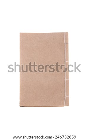 Ancient East Asia Kraft Book by Top View - stock photo