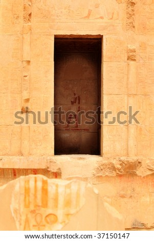 Ancient Egyptian architecture of temple in Egypt
