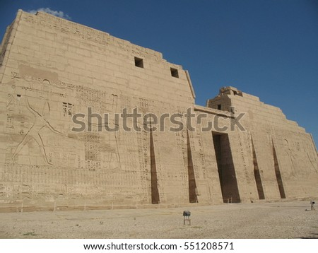 ancient egyptian architecture ruins sculptures engravings stock