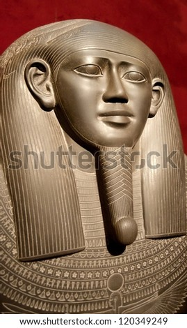 ancient Egyptian stone sarcophagus for a pharaoh - stock photo
