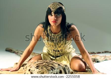 Ancient Egyptian woman - Cleopatra. - stock photo
