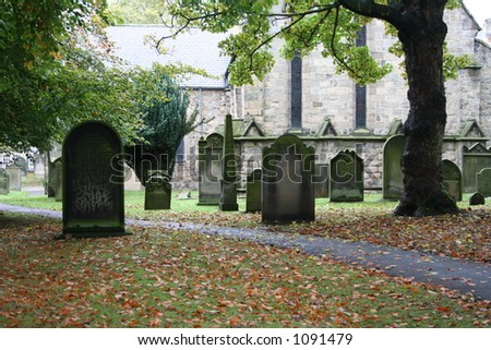 ANCIENT ENGLISH GRAVEYARD
