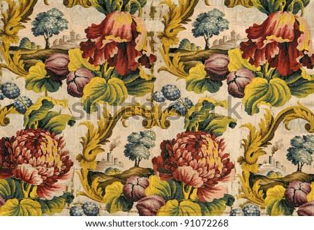 ancient fabric - stock photo