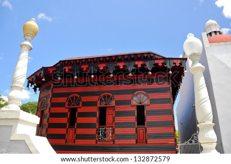 Ancient firehouse in Ponce (Puerto Rico) - stock photo