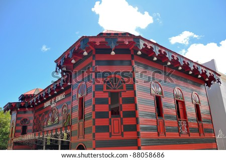 Ancient firehouse in Ponce, Puerto Rico - stock photo