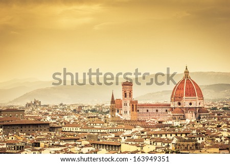 Ancient Florence - stock photo