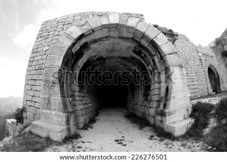 ancient Fort of Campo Molon used by the Italian army during World War I - stock photo
