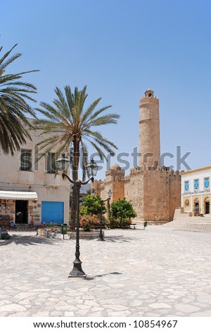 Ancient fortress in Sousse, Tunisia - stock photo