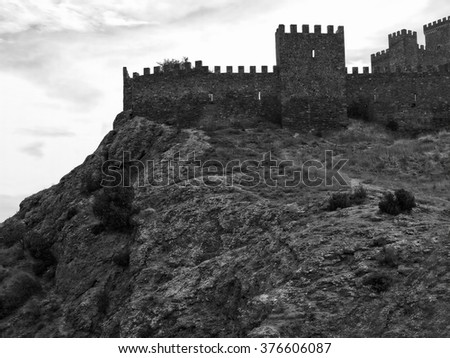 stock-photo-ancient-fortress-on-top-of-a