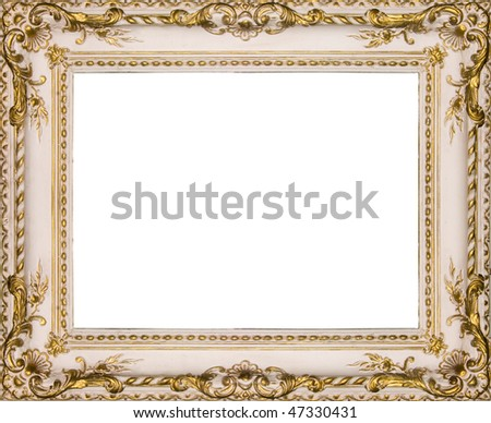 Ancient frame for a picture - stock photo