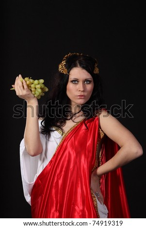 Ancient godness with a bunch of grapes
