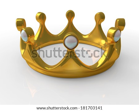 Ancient gold crown a symbol of royal authority 3d - stock photo