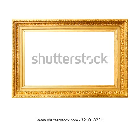 Ancient gold frame - stock photo