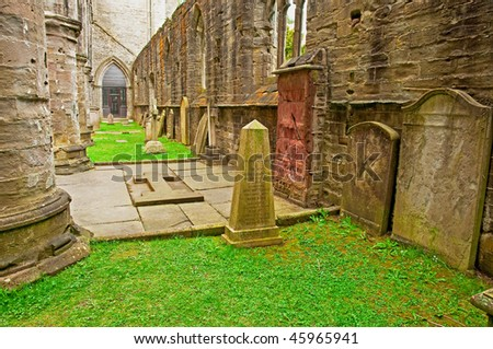 Ancient grave stones, Dunkeld, Scotland