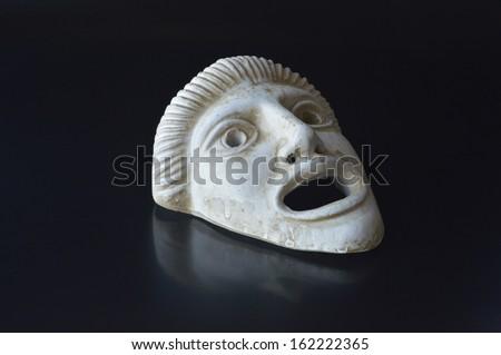 Ancient Greek drama mask - stock photo