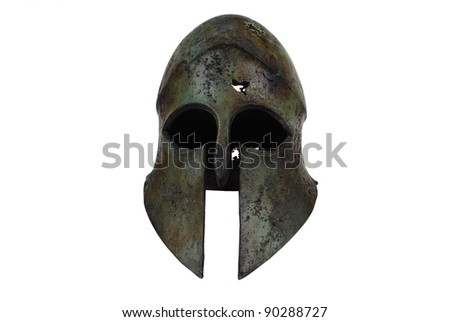 Ancient Greek Helmet from front