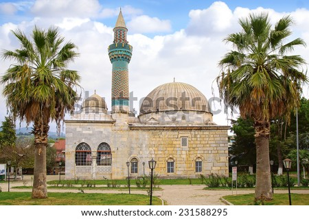 Ancient Green Mosque in Iznik (Nicaea), Turkei - stock photo