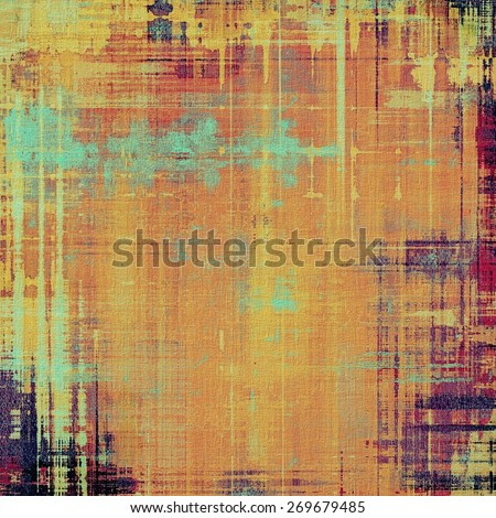 Ancient grunge background texture. With different color patterns: purple (violet); yellow (beige); cyan; pink - stock photo