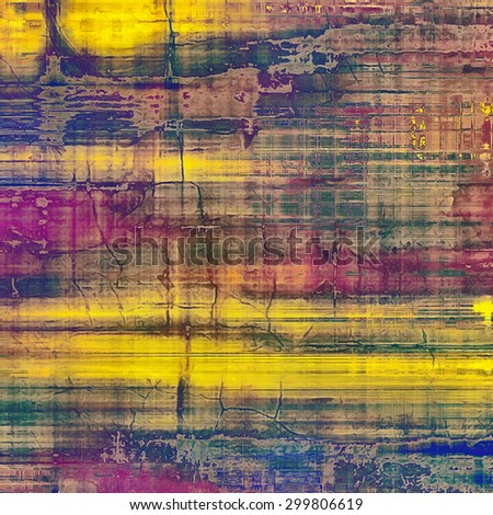 Ancient grunge background texture. With different color patterns: yellow (beige); brown; purple (violet); green - stock photo