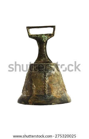ancient hand bell of the nineteenth century - stock photo
