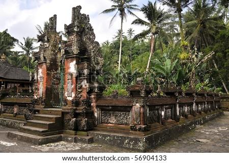 Ancient Hindu Temple (Pura) in Bali - stock photo