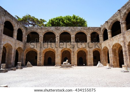 ancient hospital and arch
