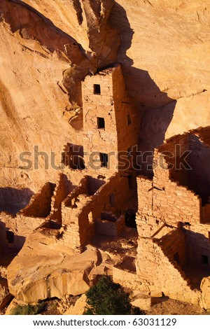 Ancient Indian city at Mesa Verde, Colorado - stock photo