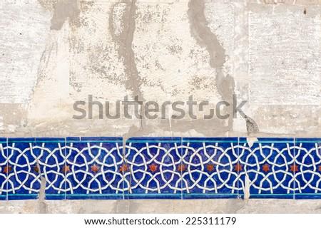Ancient Islam wall decoration - stock photo