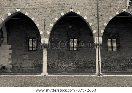 Ancient Italian architecture in Mantua, Italy - stock photo