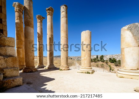 Ancient items of the Ancient Roman city of Gerasa of Antiquity , modern Jerash, Jordan