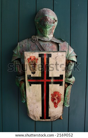 Ancient knight's armor - stock photo