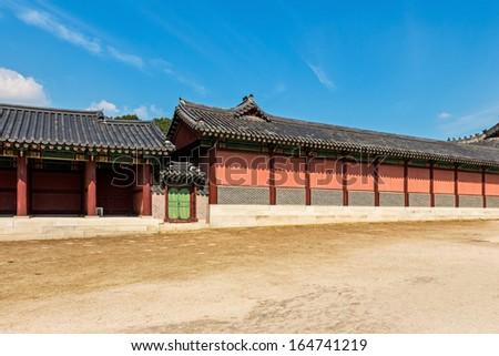 Ancient Korean building - stock photo