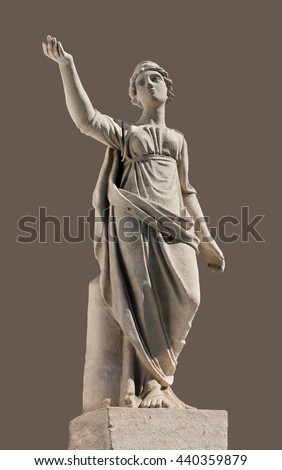 Ancient Leto sculpture. In Greek mythology, Leto is a daughter of the Titans Coeus and Phoebe, the sister of Asteria, and the mother, by Zeus, of Apollo and Artemis.