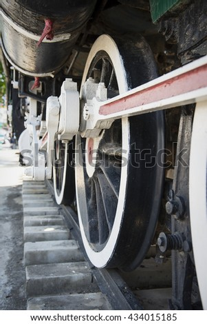Ancient locomotive of state railway Thailand. - stock photo