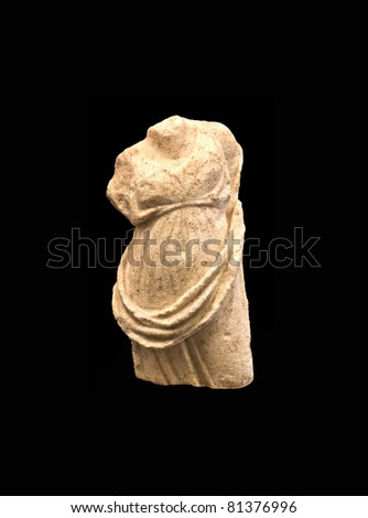Ancient marble statue of Venus  in the Ampuria ruins, Spain - stock photo