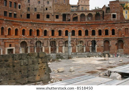 Ancient marketplace, Trajan's Forum,	in	Rome	Italy